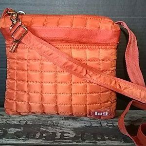 Lug quilted crossbody bag  ( Orange)
